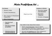 Praktikumsvorstellung - Vorlage für Plakatgestaltung