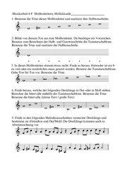 Dur Moll Tonleitern Dreiklänge