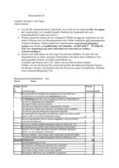 Lektürearbeit - Auswertung