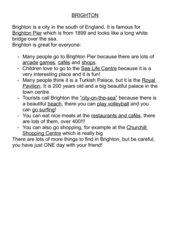 BRIGHTON Info 5. Klasse