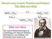 Satz von Hess - Herleitung, Anwendung und Übung