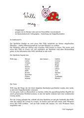 Gruppenspiel (nicht nur) für den Deutschunterricht: Willi mag ...