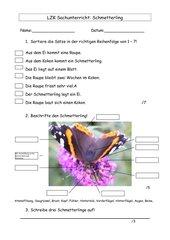 LZK Sachunterricht Schmetterling