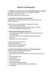Prüfungsfragen mit Antworten Deutsch / Deutsch als Zweitsprache