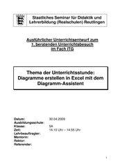 Diagramme erstellen in Excel mit dem Diagramm-Assistent