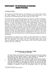 Inhaltsangabe - Text und Lösungsvorschlag - Barbierjunge von Segringen