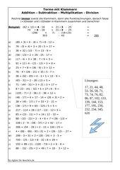 Terme mit Klammern berechnen