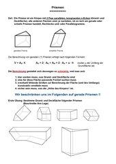 Einführung/ Wdh. Prismen