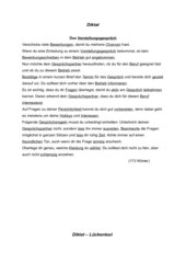 Diktat + Übungen Kl.8 Thema Vorstellungsgespräch