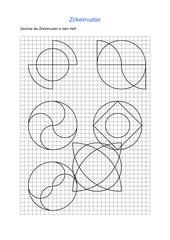 Zirkelmuster: Arbeitsblätter und Vorlagen