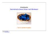 geometrische (blaue) Körper nach Montessori (Teil 6 - Kantenmodelle)