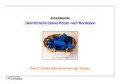 geometrische (blaue) Körper nach Montessori (Teil 3 - erstes Kennenlernen der Körper)