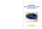 geometrische (blaue) Körper nach Montessori (Teil 2 - Lösungsheft)