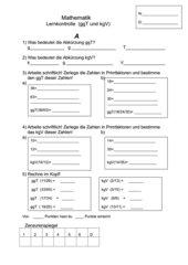 Lernkontrolle (ggT und kgV mit Primfaktorenzerlegung)