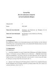 LP-Entwurf zum Gleichnis von den Arbeitern im Weinberg