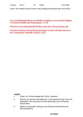 Klausur  GK 11 kath. Religion _Mythen
