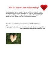 Klassen-Briefaktion zum Valentinstag