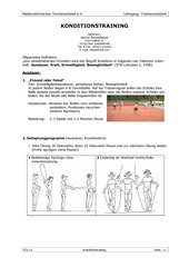 Tennis Konditionstraining