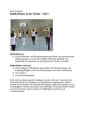 BallKoRobics für die Schule - Teil 1