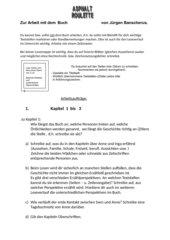 Asphaltroulette von Jürgen Banscherus (Lektürebearbeitung)