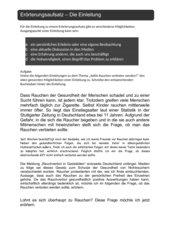 Der Erörterungsaufsatz - Die Einleitung