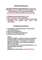 Folienvorlage Definition Globalisierung + ihre Antriebskräfte