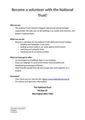 Klassenarbeit Formal Letter Writing - mit Bewertungsbogen