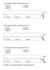 Zahlenstrahl: Eintragen von Zahlen (Leicht-Mittel-Schwer)