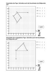 Verschiebung im Koordinatensystem (Leicht-Mittel-Schwer)