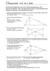 Klassenarbeit - Trigonometrie