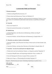 Lernkontrolle PoWi: Rechtsextremismus, Behinderung etc.