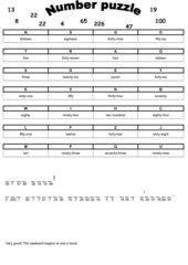 Number puzzle - Zahlenrätsel