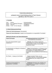 Unterrichtsentwurf Chemie Titration Fruchtsäfte
