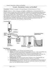 Versuchsbeschreibung: Thermische Cracken mit Paraffinöl