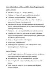 Ideen für einen Schullandheimaufenthalt in Klasse 3/4