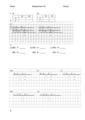 Klassenarbeit zur halbschriftlichen Multiplikation und Division