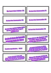 Grundrechnungen mit Plättchen (Text) -leicht