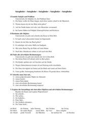 Bestimmen von Satzgliedern