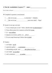 Lösungen zum Vokabeltest Lektion 7 Découvertes 2 (neu)