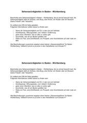 Sehenswürdigkeieten in Baden Württemberg
