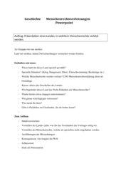 Auftrag für Powerpointpräsentation zum Thema Menschenrechtsverletzungen