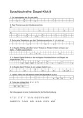 Sprachbuchrallye, Doppel-Klick Bd. 8 NRW