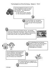 Textaufgaben zur Bruchrechnung (2)