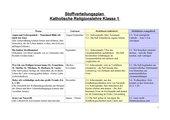 Stoffverteilungsplan katholische Religion Klasse 1 NRW