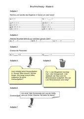 Bruchrechnung (Addition/Subtraktion)