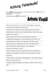 Der Fehlerteufel in der Biographie A. Vivaldis