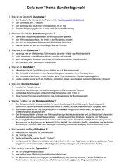 Unterhaltsames Quiz zum Thema Bundestagswahl