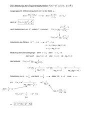 Herleitung der Ableitungsfunktion von Exponentialfunktionen
