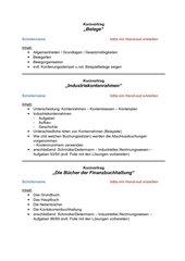 Kurzvorträge: Belege, IKR, Bücher der Fibu