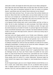Kurze Erzählung der Josefsgeschichte